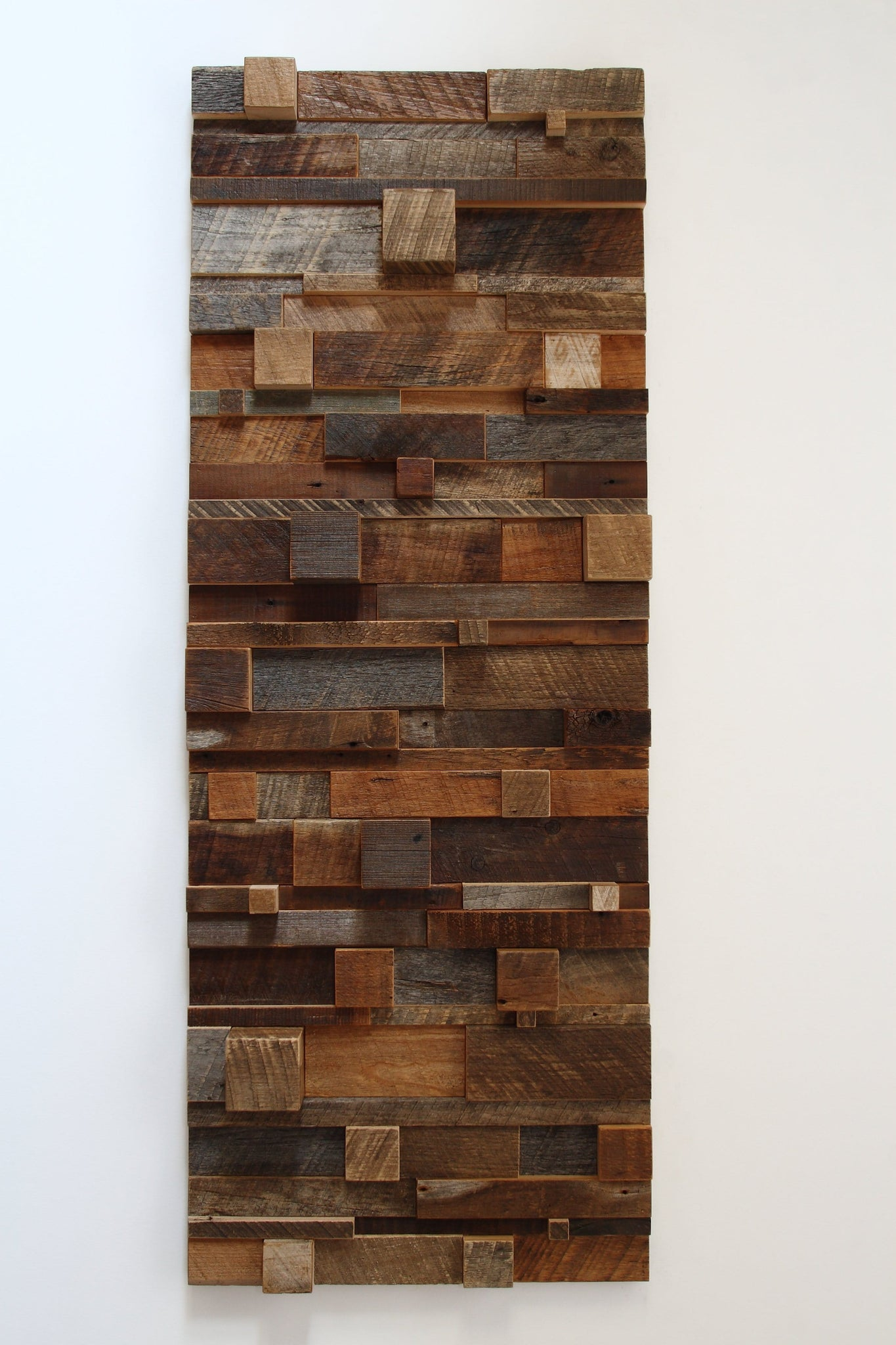 Geometric Cube Art: Wood wall sculptures