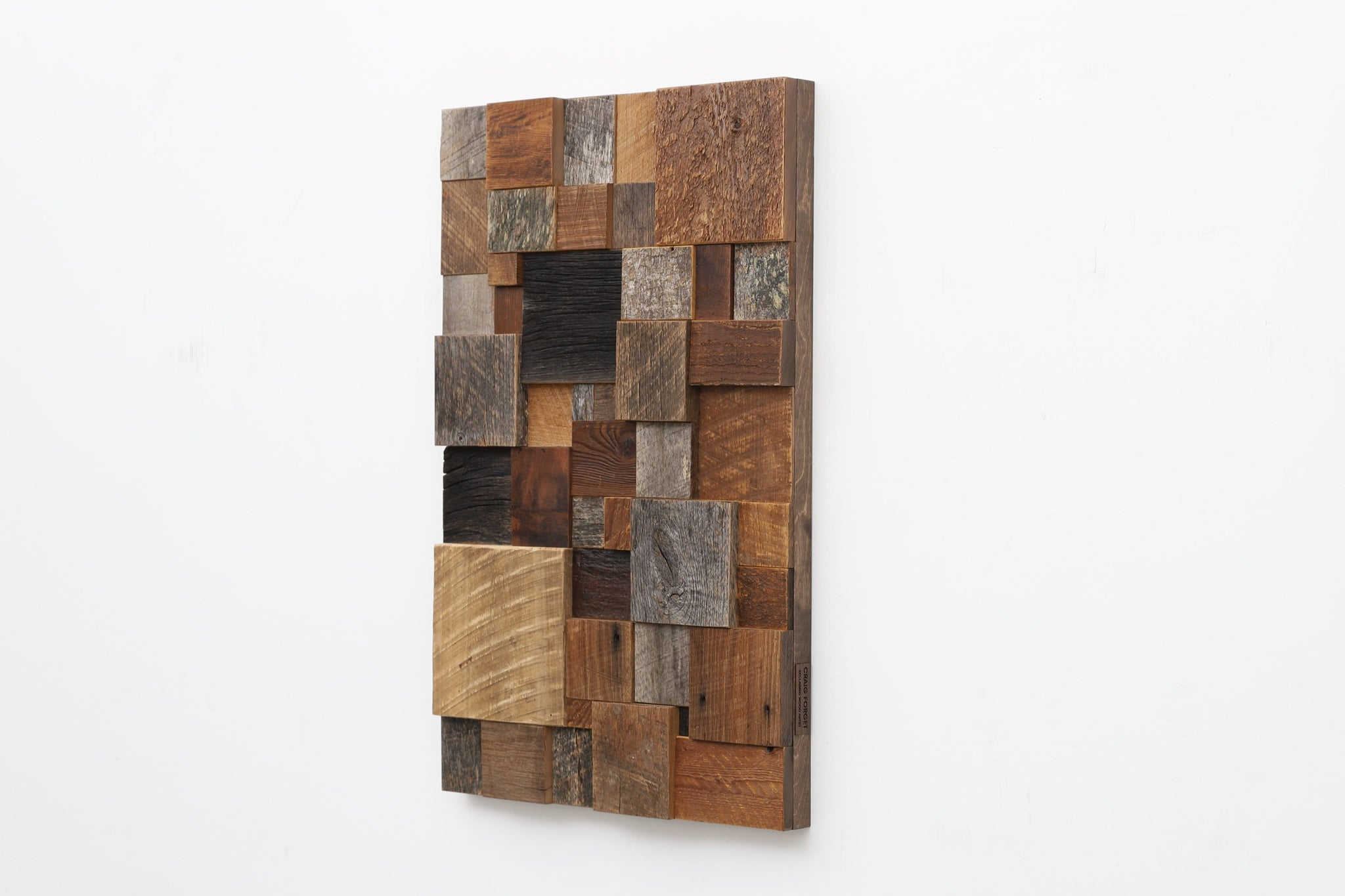 geometric wood wall sculpture