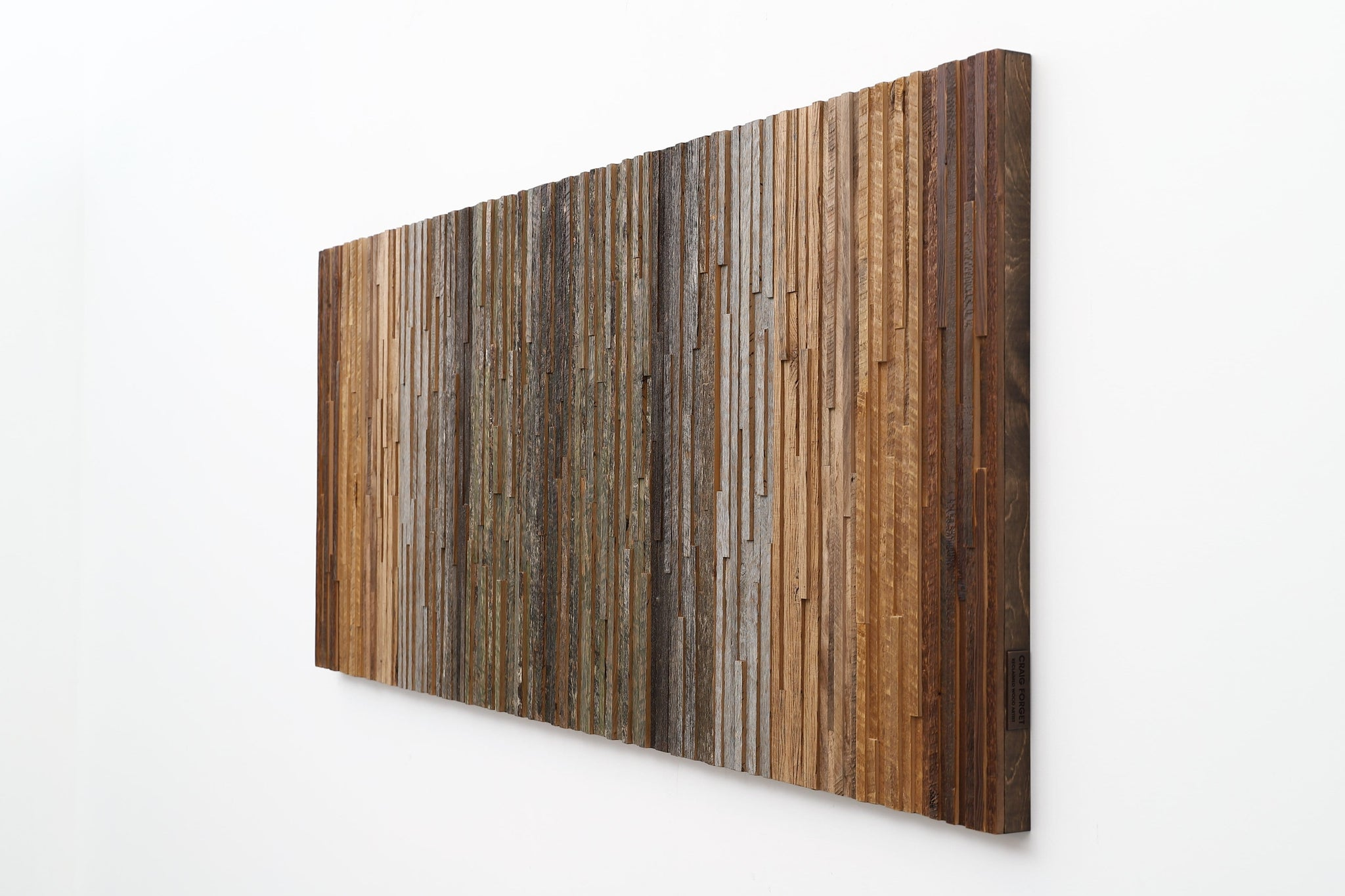 gradient moss wood artwork