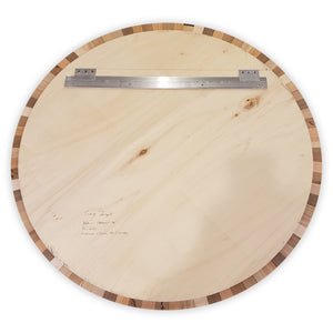 Round wood wall art Natural#3