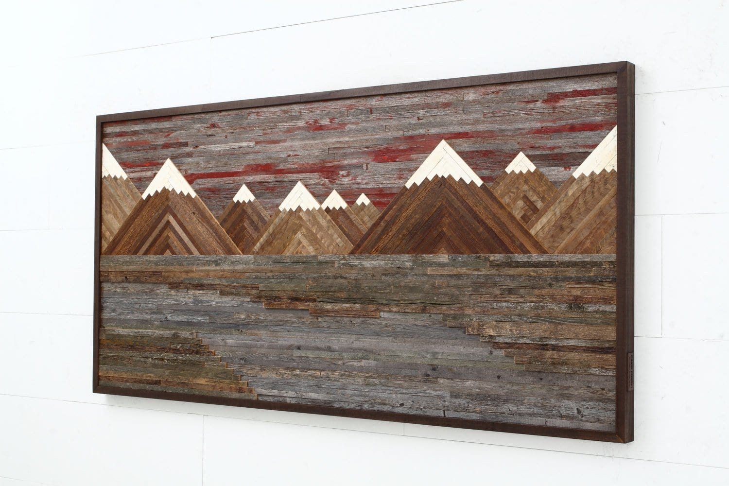 mountainscape wood wall art