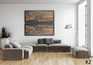 metal tree art, wood wall art