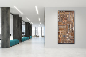 Circuit Board, wood wall art