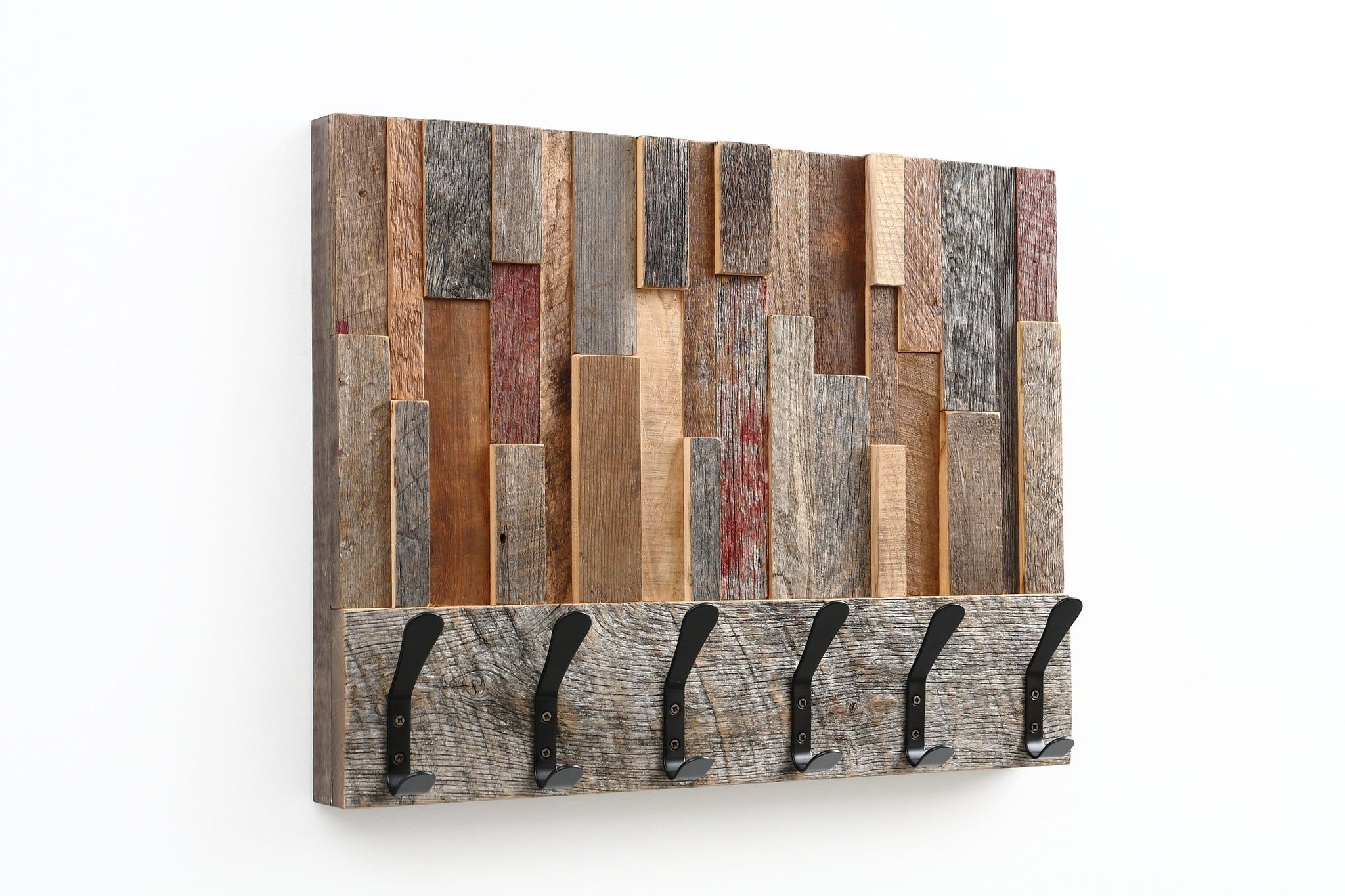 reclaimed wood coat rack wall art