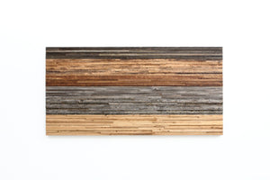 Gradient wood wall art