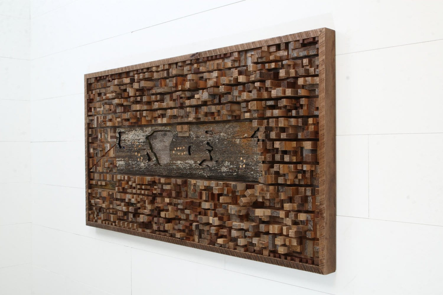 Central Park, New York, wood wall sculpture
