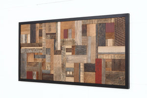 mosaic reclaimed wood art