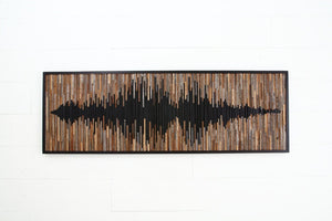 Sound Wave wood wall art