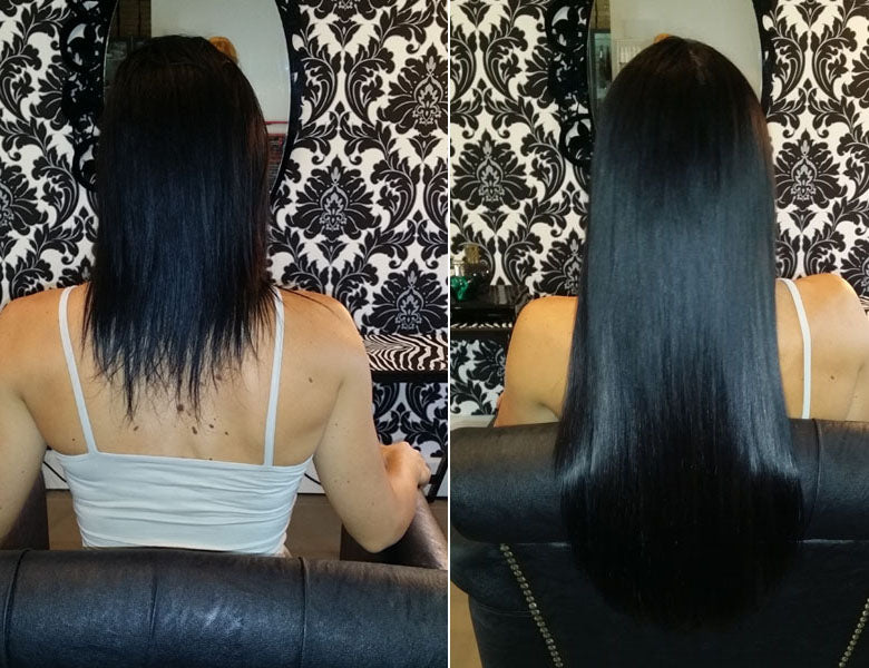 3/4 Head of Permanent Hair Extensions - hairextensionsfullstop