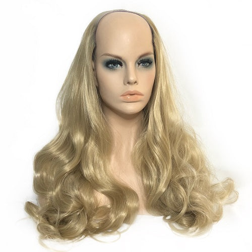 "U Part Clip In Hair Extensions Light Blonde 24"" length   260 Grams - hairextensionsfullstop"