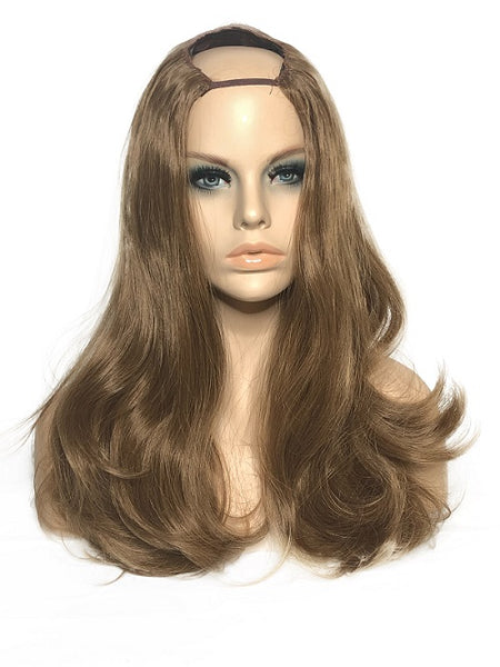 "U Part Clip In Hair Extensions Harvest Blonde 22"" length 260 Grams - hairextensionsfullstop"