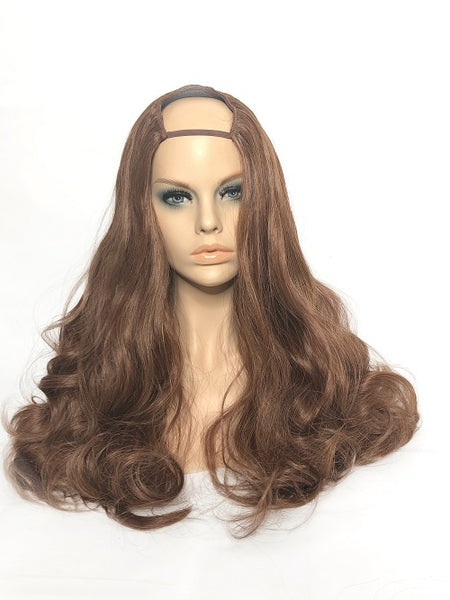 "U Part Clip In Hair Extensions Sparkling Amber 24"" length 260 Grams - hairextensionsfullstop"