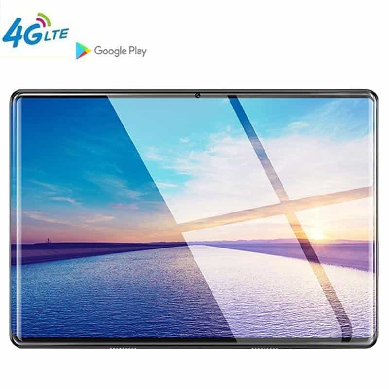 10.1' tablet Google store Octa Core 6GB RAM 64GB ROM 3G 4G LTE Android 9.0, 4G LTE add Keyboard / Silver White, 4G LTE add Keyboard, Silver White, [option3] - anythinganyware