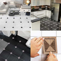 10*10cm*10pcs 3D Europe Floor Tile Diagonal Wall Sticker, [variant_title], [option1], [option2], [option3] - anythinganyware