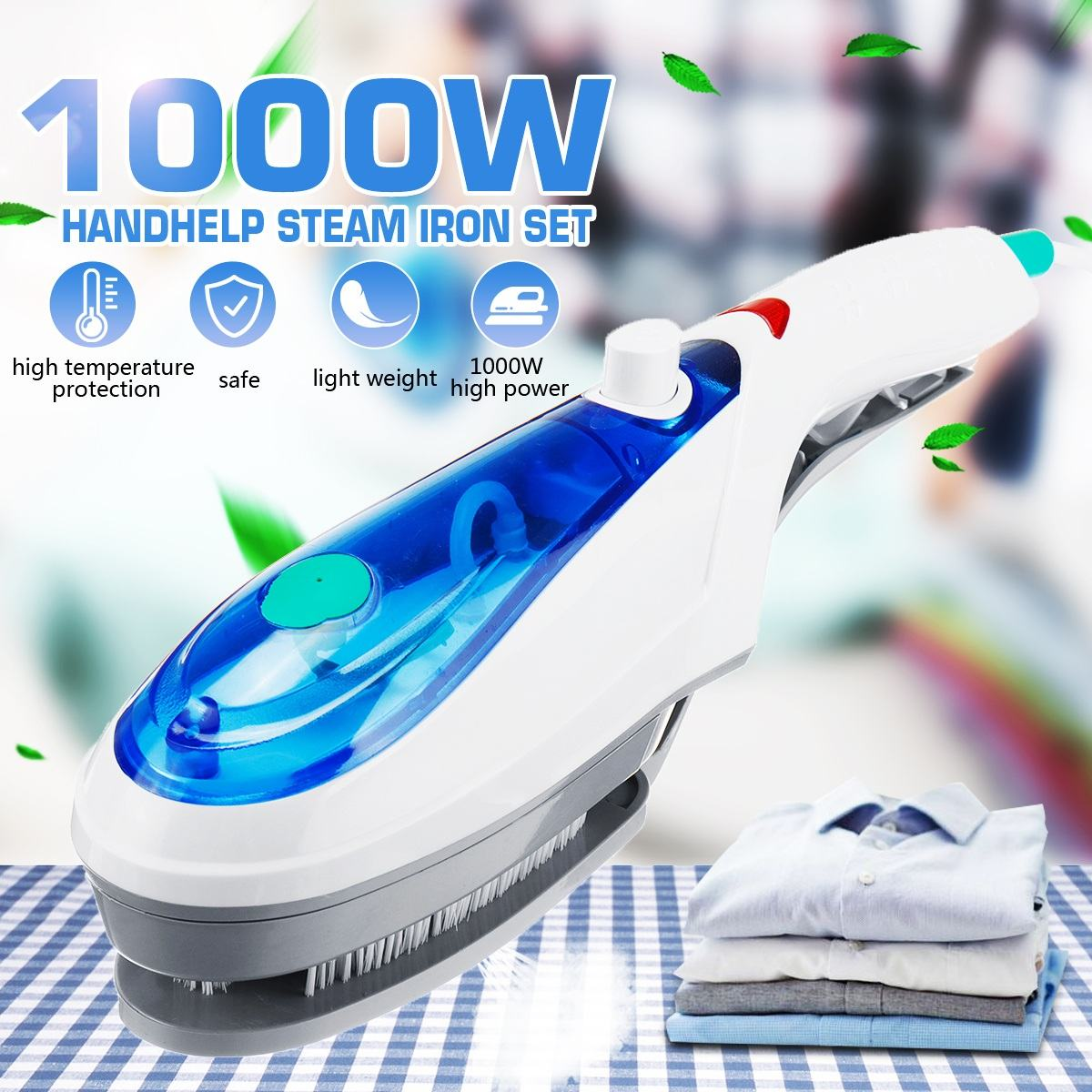 Handheld Garment Steamer Brush Portable Steam Iron, [variant_title], [option1], [option2], [option3] - anythinganyware