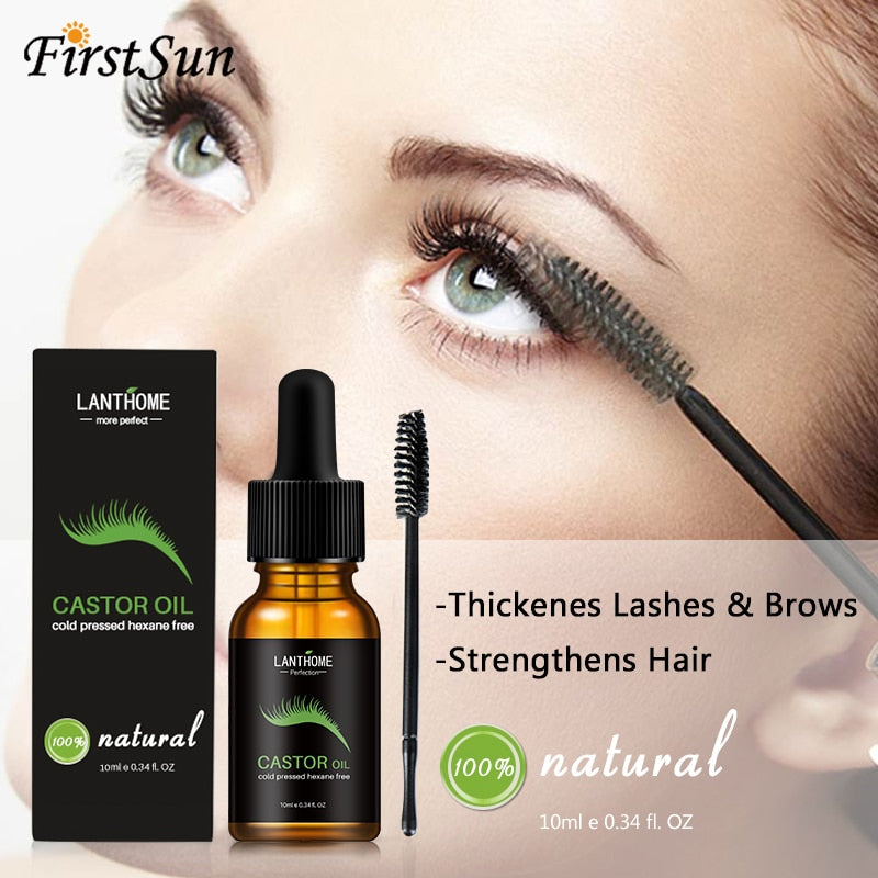 10ml Castor Oil Hair Growth Serum for Eyelash Growth, [variant_title], [option1], [option2], [option3] - anythinganyware