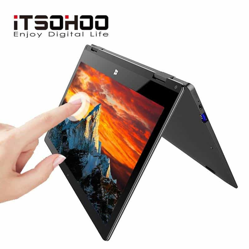 11.6 inch convertible laptops 360 degree touch screen notebook, Golden 64GB / Intel Celeron, Golden 64GB, Intel Celeron, [option3] - anythinganyware