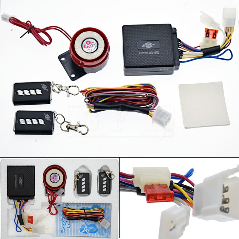 12V Motorcycle Bike Anti-theft Security Alarm System, [variant_title], [option1], [option2], [option3] - anythinganyware