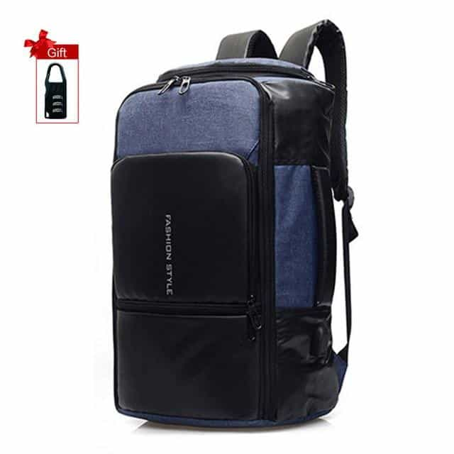 17 inch Laptop Backpack Anti Theft Bag, Blue / United States, Blue, United States, [option3] - anythinganyware
