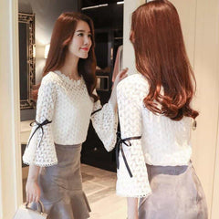 2018 Spring Fashion Solid Lace Shirts Women Blouses, [variant_title], [option1], [option2], [option3] - anythinganyware