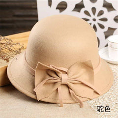 bow knotted wool cap female, [variant_title], [option1], [option2], [option3] - anythinganyware