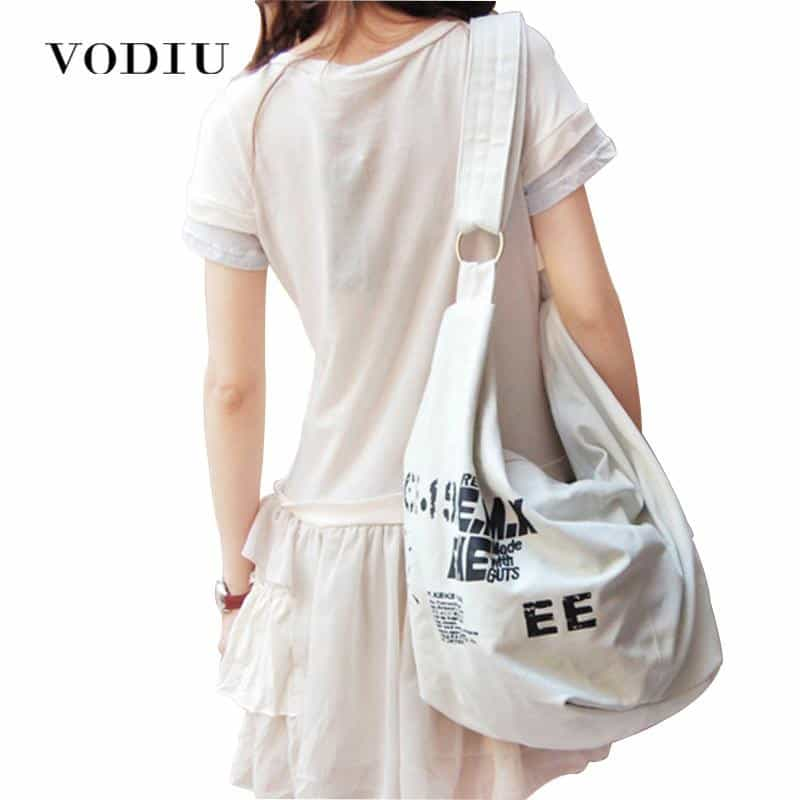 Korean Over Shoulder Bags  Irregular Canvas, [variant_title], [option1], [option2], [option3] - anythinganyware