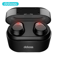 2019 Doboss Touch Control TWS Bluetooth Earphones, black, black, [option2], [option3] - anythinganyware