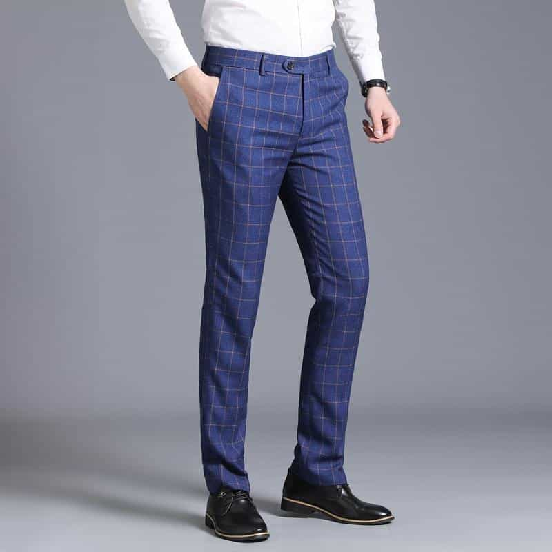 business casual fashion slim pants  plaid wedding pants, [variant_title], [option1], [option2], [option3] - anythinganyware