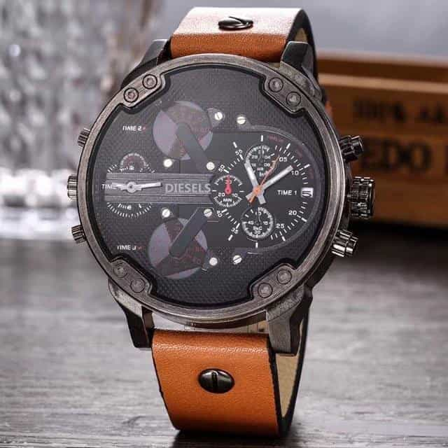 2019 Multi Time Zone Wristwatch Military Clock Leather Strap, [variant_title], [option1], [option2], [option3] - anythinganyware
