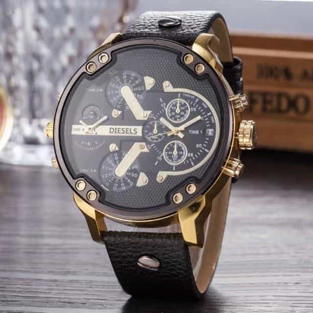 2019 Multi Time Zone Wristwatch Military Clock Leather Strap, 13, 13, [option2], [option3] - anythinganyware