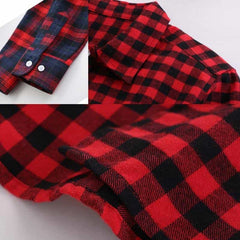 2019 New Cotton Checkered Plaid Blouses Shirt, [variant_title], [option1], [option2], [option3] - anythinganyware