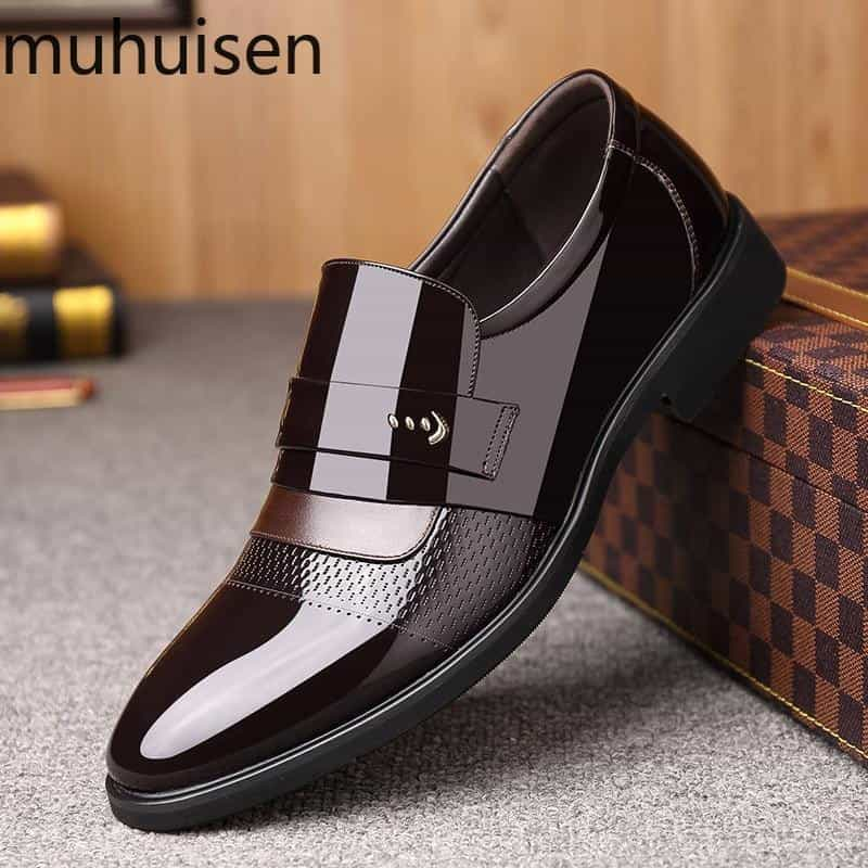 2019 New Fashion Men's Shoes Pointed Leather, [variant_title], [option1], [option2], [option3] - anythinganyware