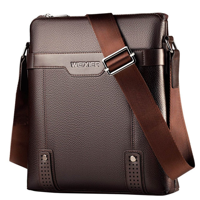 New Fashion PU Leather Men Messenger Bags, Brown, Brown, [option2], [option3] - anythinganyware
