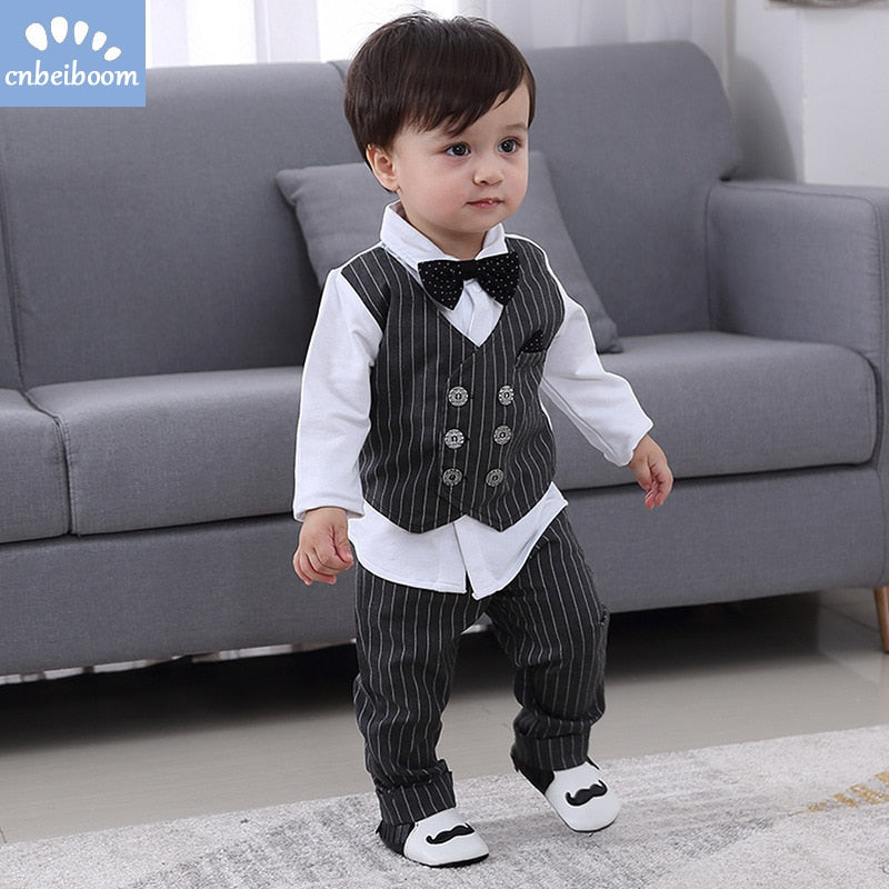 Kids Boy Clothes Baby Gentleman Suit, [variant_title], [option1], [option2], [option3] - anythinganyware