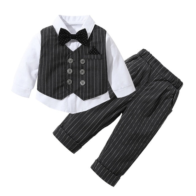 Kids Boy Clothes Baby Gentleman Suit, Black / 3T, Black, 3T, [option3] - anythinganyware