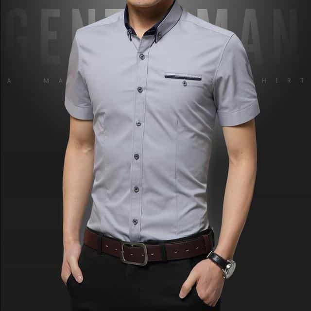 2019 New Summer Casual Shirt Men, Gray / XXXL, Gray, XXXL, [option3] - anythinganyware