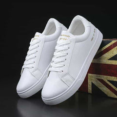 2019 Spring White Shoes Men Casual Shoes Male Sneakers, White / 6.5, White, 6.5, [option3] - anythinganyware
