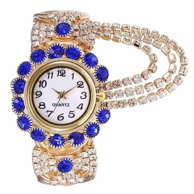2019 Top Brand Luxury Rhinestone Bracelet Watch, kh080-blue, kh080-blue, [option2], [option3] - anythinganyware