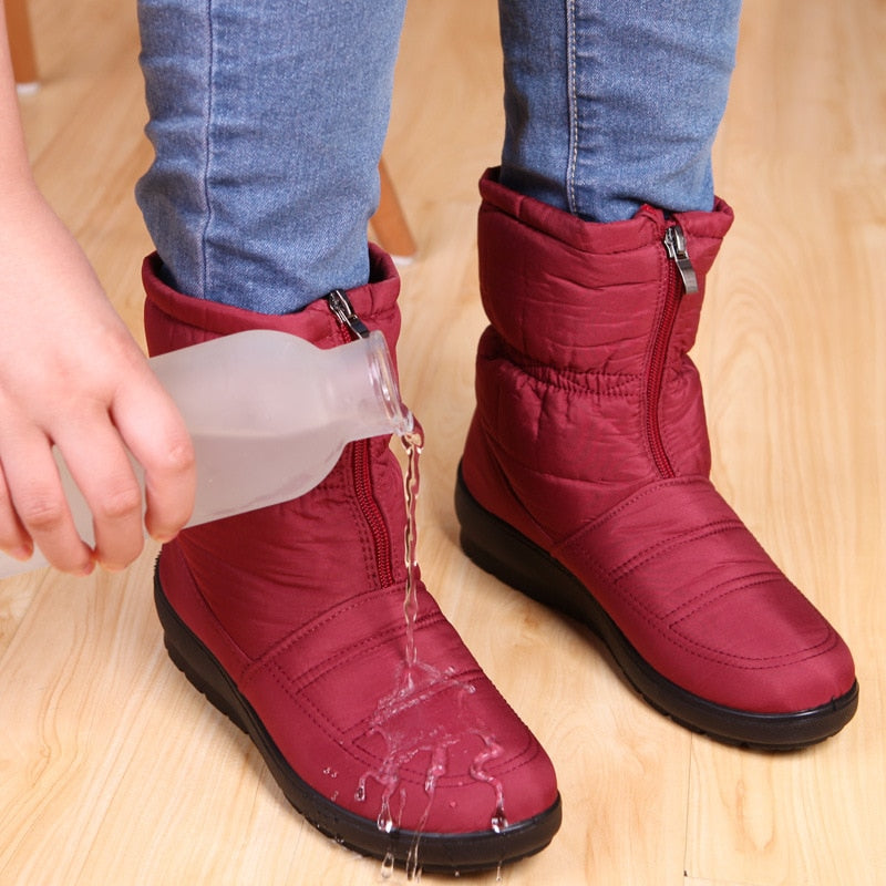 2019 Women Boots Velvet Warm Snow Boots, [variant_title], [option1], [option2], [option3] - anythinganyware