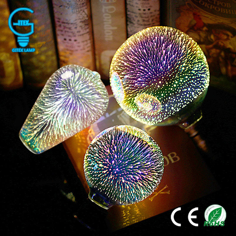 3D Colourful Star LED Edison Bulb E27 220V Lamp, [variant_title], [option1], [option2], [option3] - anythinganyware