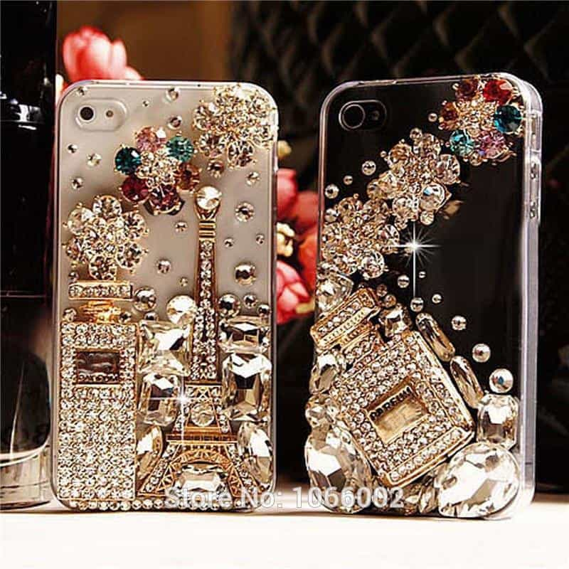 3D Eiffel Tower Crystal Perfume Bottle Bling Cases, [variant_title], [option1], [option2], [option3] - anythinganyware