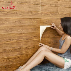 3D Wooden Wall Sticker Home Decor PE Foam Waterproof, [variant_title], [option1], [option2], [option3] - anythinganyware