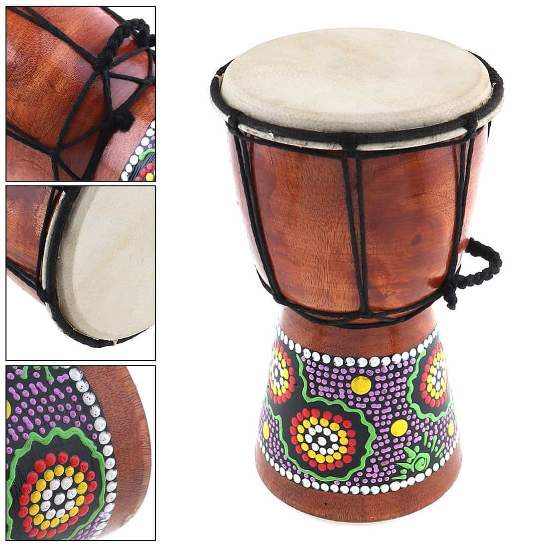 4 Inch 6 Inch Professional African Djembe Drum Wood, [variant_title], [option1], [option2], [option3] - anythinganyware