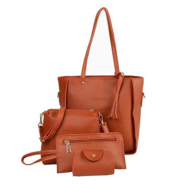 4 Pcs/set Women Handbag, 206Brown, 206Brown, [option2], [option3] - anythinganyware