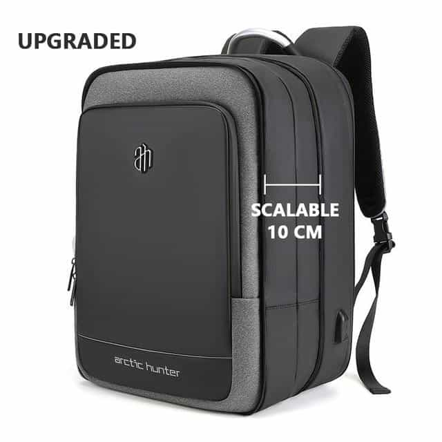 40L Large Capacity Mens Expandable Backpacks, Black Gray / 17 Inches, Black Gray, 17 Inches, [option3] - anythinganyware