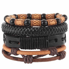 Leather Punk Charm Men Leather Bracelet, type 30, type 30, [option2], [option3] - anythinganyware