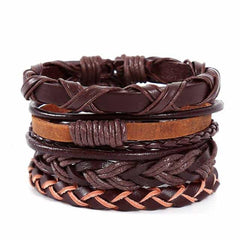 Leather Punk Charm Men Leather Bracelet, type 31, type 31, [option2], [option3] - anythinganyware