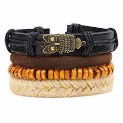 Leather Punk Charm Men Leather Bracelet, type 9, type 9, [option2], [option3] - anythinganyware