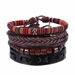 Leather Punk Charm Men Leather Bracelet, type 23, type 23, [option2], [option3] - anythinganyware