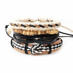 Leather Punk Charm Men Leather Bracelet, type 19, type 19, [option2], [option3] - anythinganyware